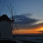The Windmills of Mykonos by Peter Hammer