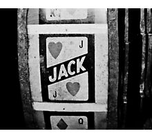 jack of hearts: vintage poker machine Photographic Print