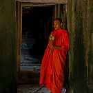 Monk at Bayon by GayeL Art