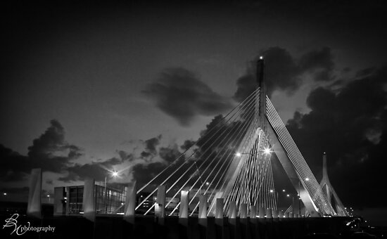 Leonard Zakim Bridge, Boston by bettywiley