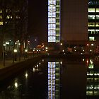 Reflections in the docks. by Terry Senior