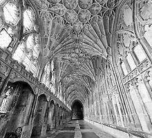 Gloucester Cathedral Cloisters IV by Chris Tarling