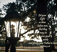 House Lantern- Matthew 5:16 by Janis Lee Colon