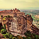 Greece. Meteora. The Holy Monastery of St. Stephen. by vadim19