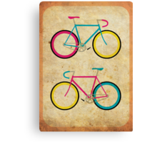 CMYK Bikes ~ Series 1 Canvas Print