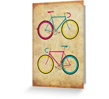 CMYK Bikes ~ Series 1 Greeting Card