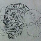 sugar skull tattoo by Karly Lussier