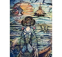 vintage geisha Photographic Print
