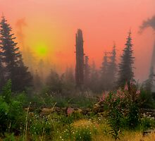 Buck Mountain Glow by Charles & Patricia   Harkins ~ Picture Oregon