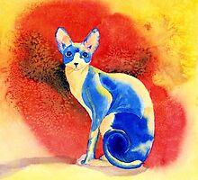 Sphynx Cat 3 by Yvonne Carter