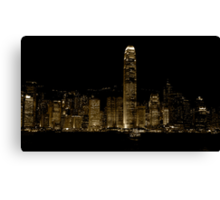 Star ferry by night Canvas Print