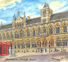 Guild Hall, Northampton, UK by sketchartistjt