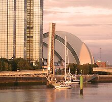 Yacht at sunset on the Clyde by ElsT