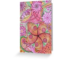 Psychedelic flowers Greeting Card