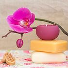 soap and orchids by Carine LUTT
