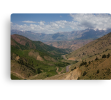 Road to Fergana Valley Canvas Print