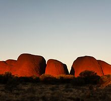 Sundown at The Olgas by Lisa  Kenny