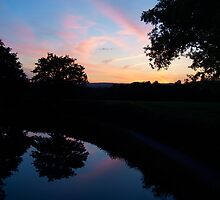 Sunset over the Great Western Canal by Nik Taylor