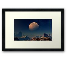 Martian Moons - Phobos Framed Print