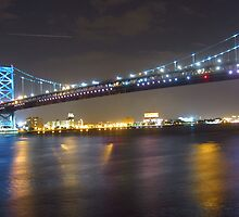 Ben Franklin Bridge, Philadelphia, PA by Schuyler L