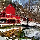 Hodgson Mill in Winter by Jerry E Shelton