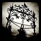 wrought iron, butchart gardens, victoria bc by scott hamilton