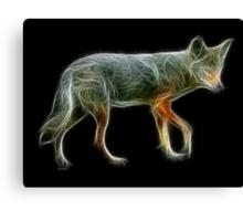 Medicine Wheel Totem Animals by Liane Pinel- Coyote Canvas Print