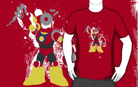 Metal Man Splattery T-Shirt by thedailyrobot