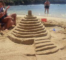 Sand Castle- Hanauma Bay by Anna Chudko
