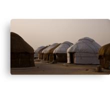 Yurts at Ayaz Kala Canvas Print
