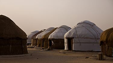 Yurts at Ayaz Kala by Gillian Anderson LAPS, AFIAP