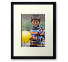 Balloon Boy Framed Print