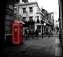 Red telephone box by Giulia Sermoneta