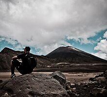 Solitude - Mt Tongariro National Park, New Zealand by John Allen