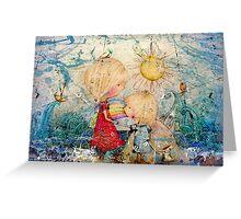 sun and sea Greeting Card