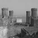 Conwy Castle in B&amp;W by Michaela1991