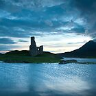 Castle on Loch Assynt by chriscyner