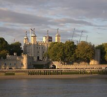 Tower of London on River Thames by RSMphotography
