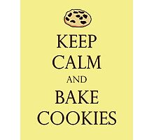 Yellow Keep Calm and Bake Cookies Photographic Print