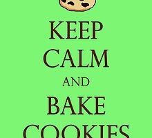 Green Keep Calm and Bake Cookies by TheClarkes