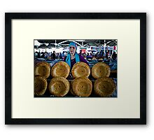 Bread Wheels Framed Print