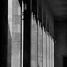 Bahrain Mosque Hallway by Andrew Hillegass