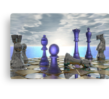 Early Morning Chess Canvas Print