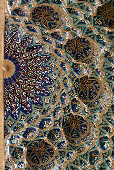 Roof detail, Amur Timur Mausoleum by Gillian Anderson LAPS, AFIAP