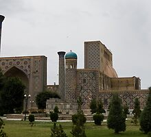 Registan Square from behind by Gillian Anderson LAPS, AFIAP