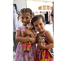Girls and dolls Photographic Print