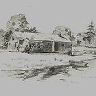 Lonely Boat House by WienArtist