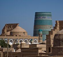 Khiva rooftops by Gillian Anderson LAPS, AFIAP