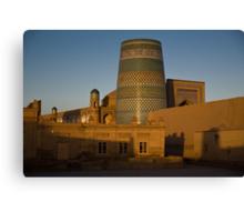 Khiva walls at dawn Canvas Print