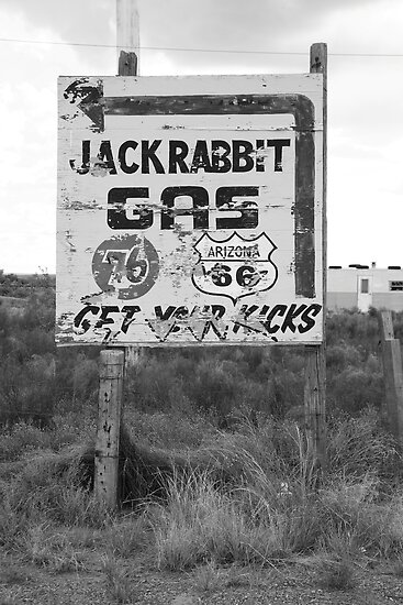 Route 66 - Jack Rabbit Trading Post by Frank Romeo